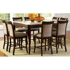 rattan wood counter height tables steve silver company dining