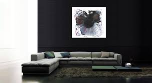 black white and red modern abstract art on canvas painting