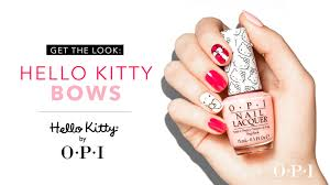 hello kitty by opi hello kitty bows nail art tutorial youtube