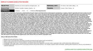 planning executive cover letter u0026 resume