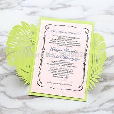 tropical wedding invitations customized tropical wedding invitation laser cut wedding invitation