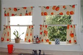 Vintage Drapery Fabric Kitchen Curtains In Vintage Fabric Curtains Beth Made From U2026 Flickr