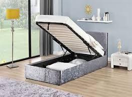 ottoman bed single birlea berlin silver crushed velvet ottoman storage bed single 3ft