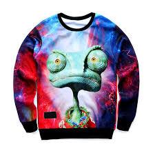 3d sweater chill king lizard galaxy sweater 3d print