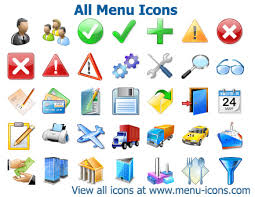 icon design software free download all menu icons collection