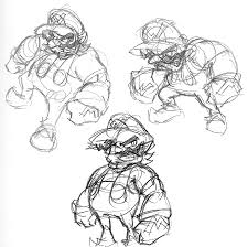 wario sketch by arczero on deviantart