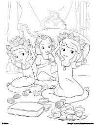 coloring pages of sofia the first funycoloring