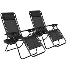 Zero Gravity Patio Chairs by Best Choice Products Zero Gravity Chairs Case Of 2 Black Lounge