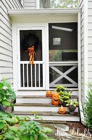 house porch at night halloween house a haunted hello exterior foyer u2013 dixie delights