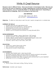 Part Time Job Objective Resume Resume Template Great Job Objectives For Resumes Great Job For A