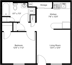 brambles apartment floor plans for one and two bedrooms
