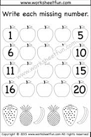 missing numbers u2013 1 20 u2013 worksheet free printable worksheets