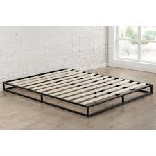 Low Profile Bed Frame 6 Inch Low Profile Platform Bed Frame With Modern Wood Slats