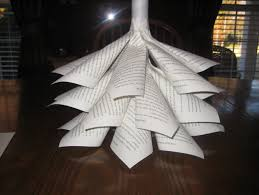 Arts And Crafts Christmas Tree - paper cone christmas tree craft go green and use recycled paper