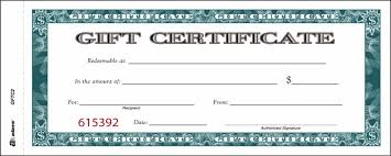 gift certificates gift certificate book carbonless single paper