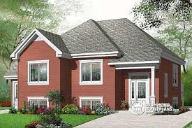 split level bedroom multi family plan w3323b detail from drummondhouseplans
