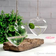 ivolador hanging glass heart shaped flower planter vase terrarium