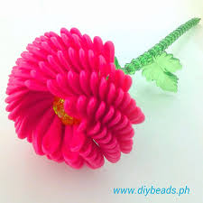 Zinnia Flower Zinnia Flower Beaded Products Acrylic Beads Diybeads