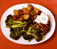 Need A Dinner Idea Rosemary Lemon Chicken With Roasted Broccoli And Potatoes Lauren