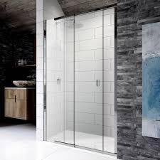 kudos 8 sliding shower door for recess uk bathrooms