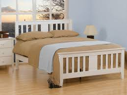 sweet dreams kestrel 4ft small double white wooden bed frame
