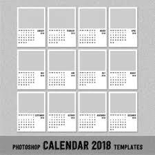 2018 monthly calendar template 5x7