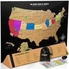 California Travel Tracker images Buy the best scratch off usa map with all 59 national parks jpg