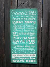 nana sign nana gift gifts for nana nana u0027s house rules gift for