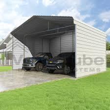 classic carport 3 sided 24 x 20 x 12 carport or shelter
