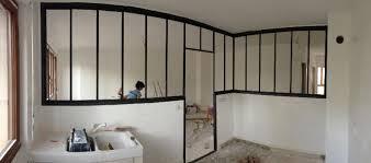 separation cuisine salon etude et fabrication grande verrière de séparation cuisine salon
