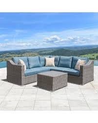 Grey Wicker Patio Furniture by Check Out These Bargains On Corvus Martinka 6 Piece Grey Wicker