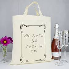 wedding gift personalised personalised mr and mrs wedding gift bag by andrea fays