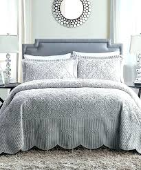 king size 3 piece reversible quilt set in 100 cotton grey white