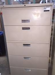 Hon 36 Lateral File Cabinet Pre Owned Hon 36 Wide 5 Drawer Lateral File Cabinet Putty Sku