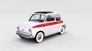 fiat 500 nuova sport 1958 rev 3d cgtrader