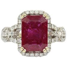 natural ruby rings images 4 5 carat natural ruby in 18k white gold diamond setting ring jpg
