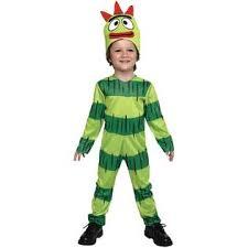 Toddler Monster Halloween Costume Paper Magic Brobee Yo Gabba Gabba Toddler Boys Green