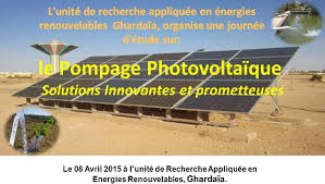 bureau d ude photovoltaique journée d étude sur les applications de l énergie solaire