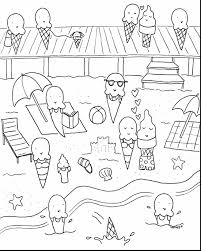 incredible summer ice cream coloring page with summer coloring