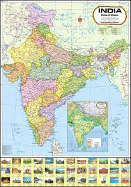 World Map Wall Poster by India Map Political Wall Chart Paper Print Maps Posters In