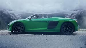 Audi R8 Green - audi r8 spyder v10 plus ad might make you dizzy