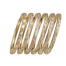 bangle bracelet color gold plated images 6mm gold plated indian tri color semanario bangle oro laminado jpg