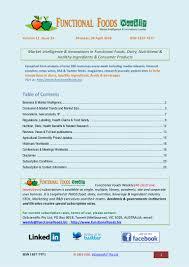 functional foods weekly vol 11 no 33