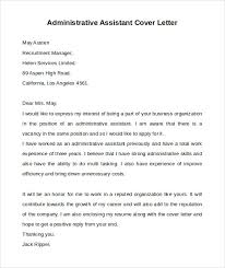 administrative assistant cover letter administrative assistant cover letter 9 free sles exles