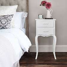 White Bedside Table Gloria Bedside Table White Brissi