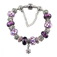 bracelet with charms images Silver plated charm bracelet with charms for pandora jpg