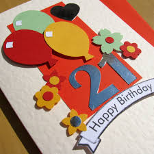 etsygreetings handmade cards happy 21st birthday card