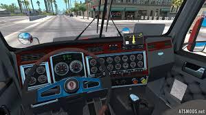 kenworth truck interior kenworth t800 truck mod updated ats mods