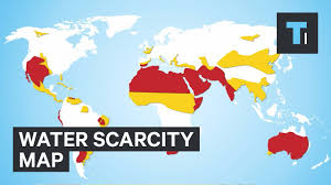 India On The World Map by Water Scarcity Map Youtube