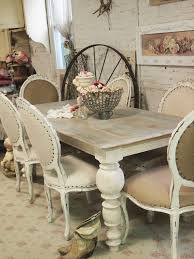 painted cottage chic shabby french linen dining table farm table